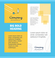 writing company brochure title page design vector image vector image