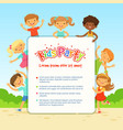 poster for children party funny different vector image