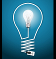 Creative light bulb abstract infographic vector image