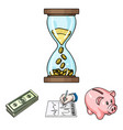 bank business schedule bundle of notes time vector image