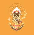 sea dog color emblem vector image