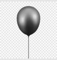 3d realistic glossy metallic black balloon vector image vector image