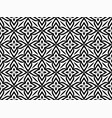 abstract geometric pattern with florals vector image vector image