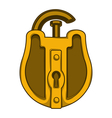 Antique golden lock vector image