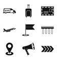 auto shipping icons set simple style vector image vector image