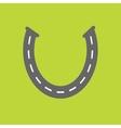 Background with road white marking Horseshoe vector image