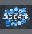 big data flat concepts design vector image vector image