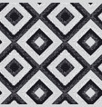 black and white rhombus carpet seamless pattern vector image