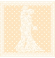 bride groom and lace vector image vector image