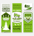 business template banner set for ecotourism design vector image vector image