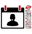 Call Center Manager Calendar Day Flat Icon vector image vector image