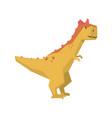cartoon dinosaur character jurassic period animal vector image vector image