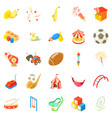 children event icons set cartoon style vector image vector image