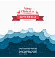 christmas snow background marry cover happy ne vector image vector image