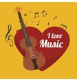 classical violin isolated icon design vector image
