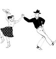 contra dance couple vector image vector image