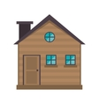 cottage wooden chimney exterior vector image vector image