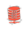 data center icon in comic style server cartoon on vector image vector image