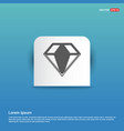 diamond icon - blue sticker button vector image