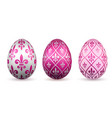 easter egg 3d icon color eggs set isolated white vector image vector image