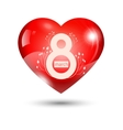 eighth of march love heart vector image