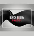 elegant black friday sale background design vector image