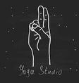 Element yoga mudra hands vector image vector image