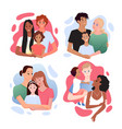 family with different nationality set father vector image vector image