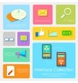 Flat Interface Design Collection vector image vector image