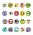 Food Colored Icons 1 vector image vector image