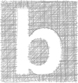 Freehand Typography Letter b vector image vector image