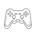 gamepad line icon vector image vector image