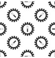 gear and test tube icon isolated seamless pattern vector image