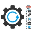 Gear Rotation Direction Icon With Free Bonus vector image vector image