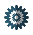 gears machine settings isolated icon vector image vector image