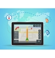 Geolocation gps navigation touch screen tablet vector image