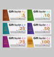gift voucher template horizontal layout banners vector image