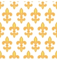 Golden lily seamless pattern background vector image vector image
