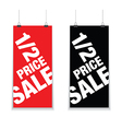 half price sale signs vector image vector image