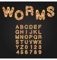 halloween style typeface uppercase letters vector image