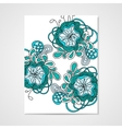 Hand-drawn pattern with abstract flowers vector image vector image