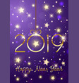 happy new year background with gold lettering vector image vector image