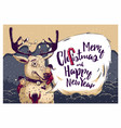 hipster christmas card or invitation flyer vector image