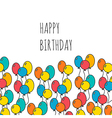 Holiday background with balloons happy birthday vector image vector image
