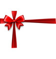 holiday christmas gift silk bow vector image vector image