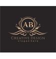 initial ab beauty monogram and elegant logo design