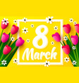 international women day 8 march cover banner vector image vector image