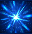 majestic blue flash abstract background vector image vector image
