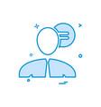 men chat sms talk icon design vector image