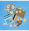 Money items set vector image